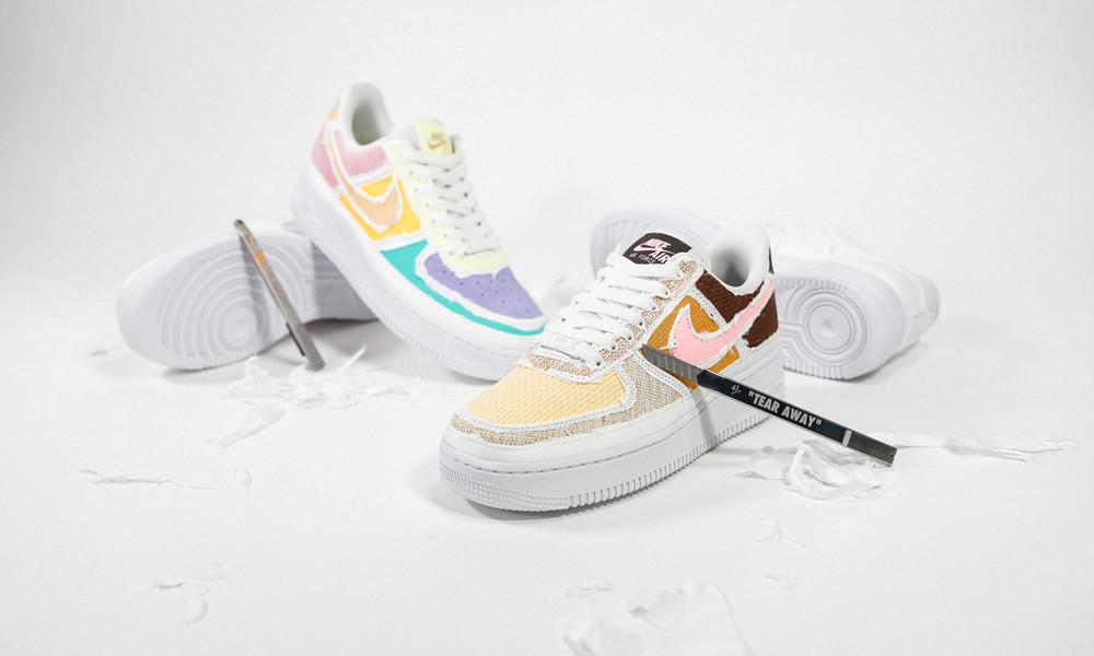 Nike WMNS Air Force 1 '07 PRM Tear Away Pack DJ6901-600 DJ9941-244 After