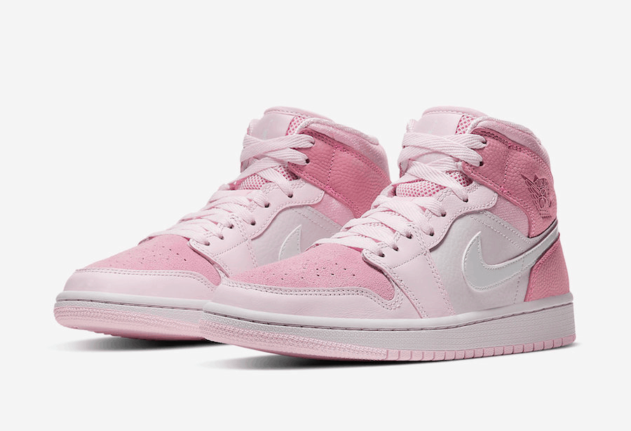 wmns air jordan 1 mid digital pink cw5379-600