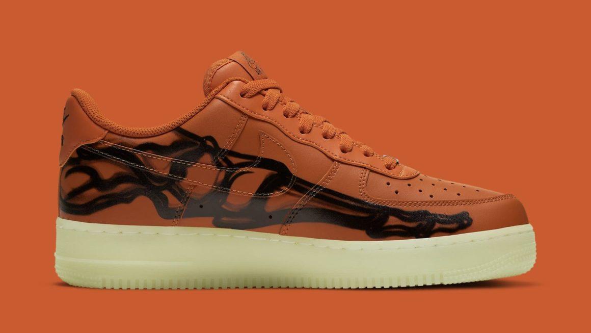 Nike Air Force 1 07 Skeleton Orange