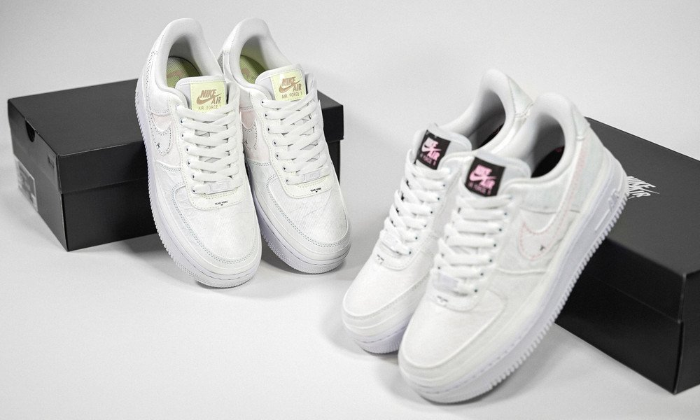 Nike WMNS Air Force 1 '07 PRM Tear Away Pack DJ6901-600 DJ9941-244 Before