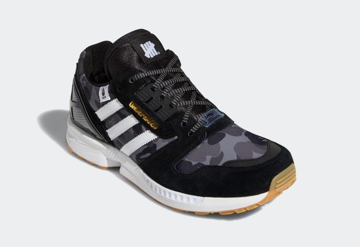 Bape x undefeated x adidas zx 8000 FY8852