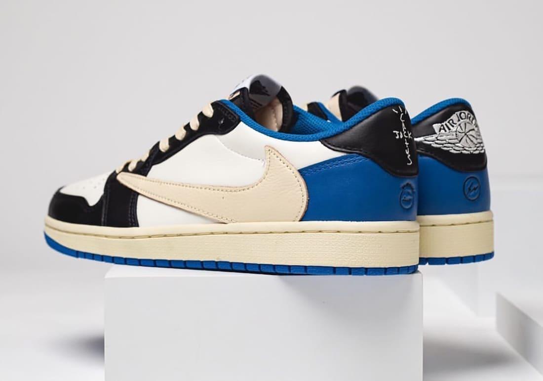 Travis Scott x fragment x Air Jordan 1 Low DM7866-140 Heel