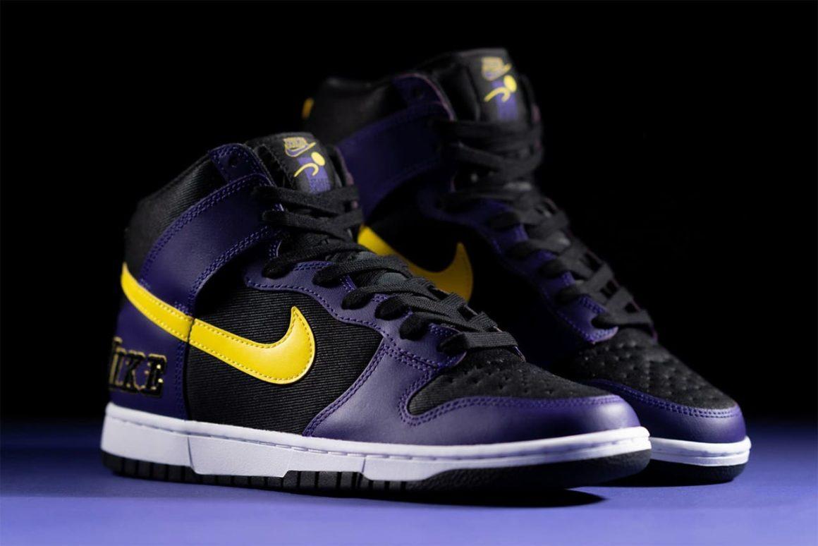 Nike Dunk High EMB Lakers DH0642-001