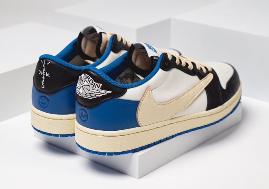 Travis Scott x fragment x Air Jordan 1 Low DM7866-140 Release 2021