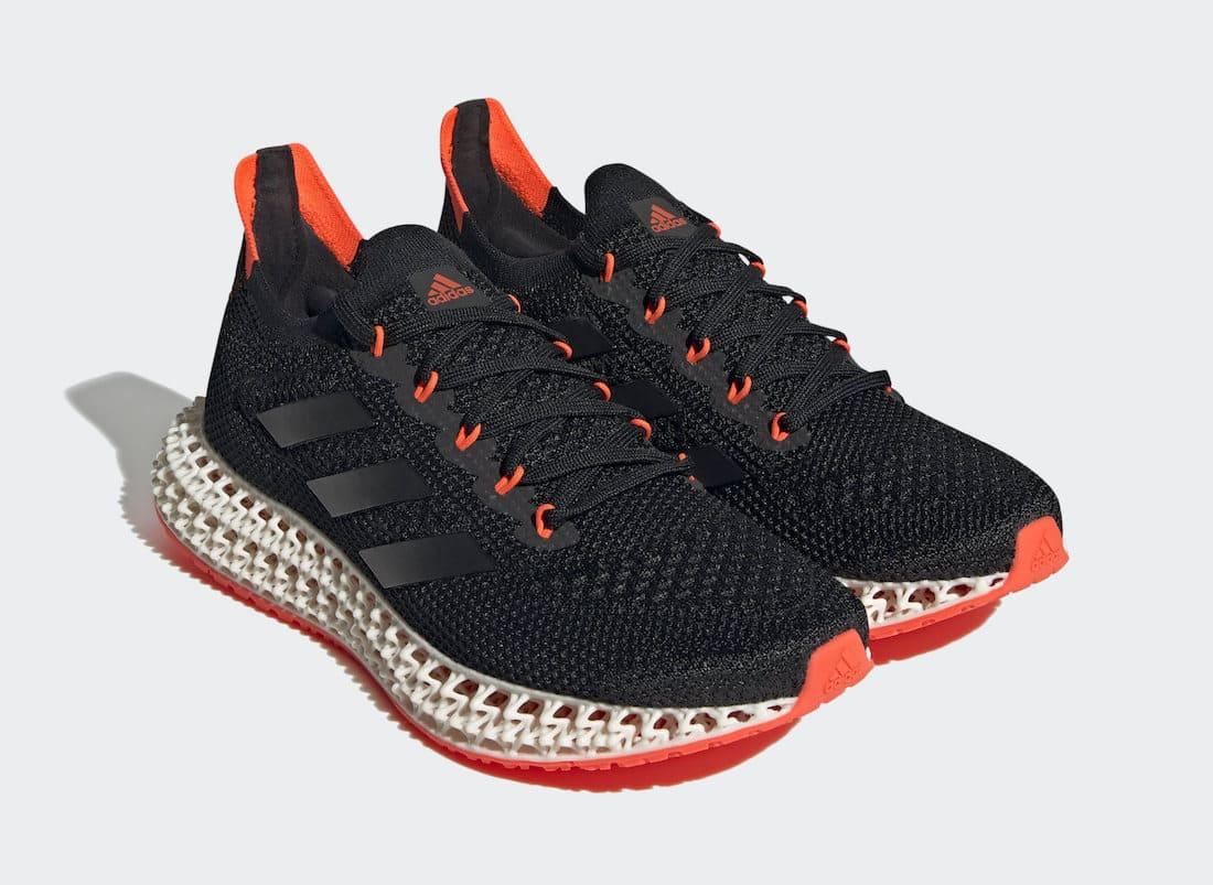 adidas-4DFWD-Black-Solar-Red-FY3963 Front