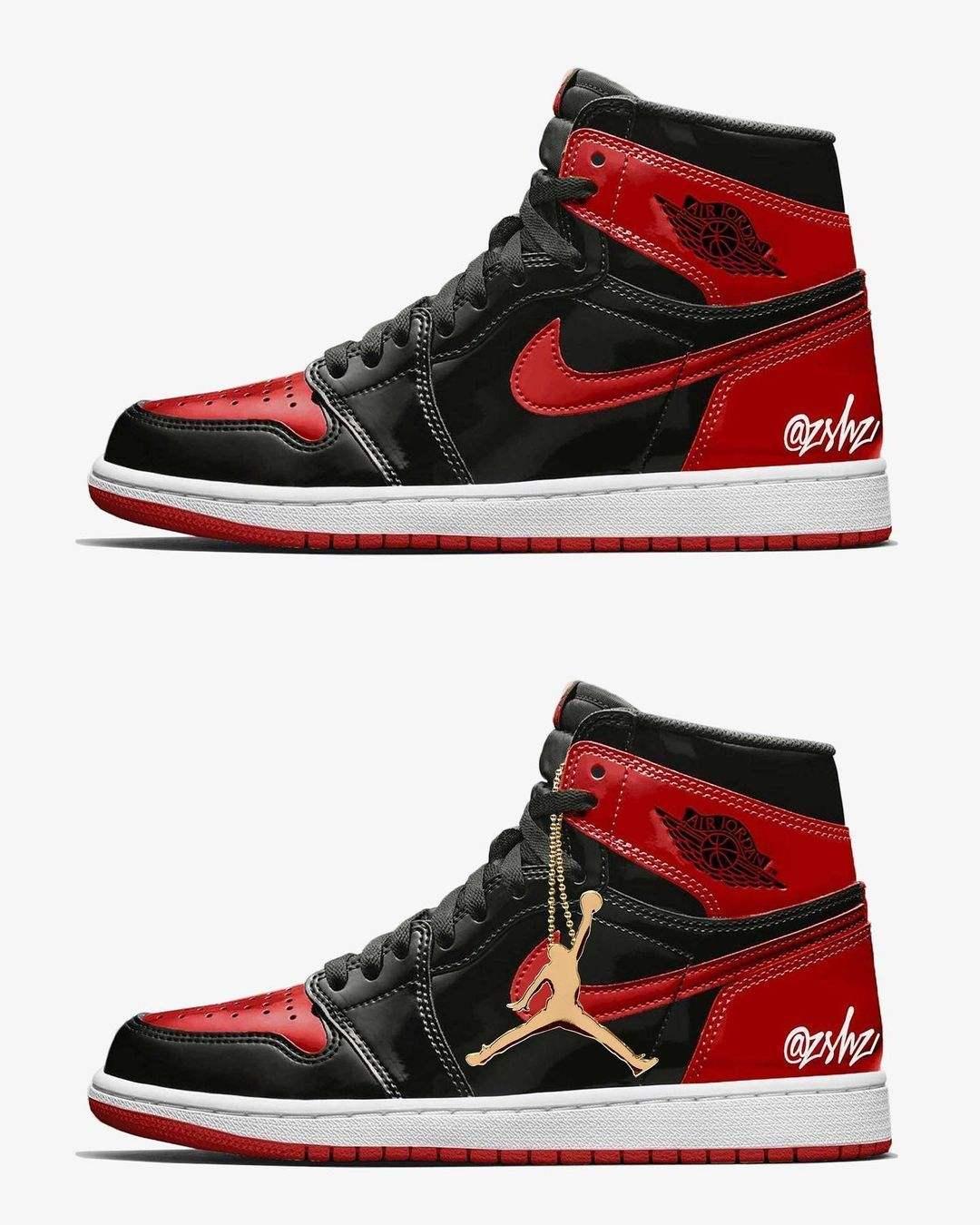 """Air Jordan 1 High OG """"Patent Bred""""-55088-063-Release-2021"""