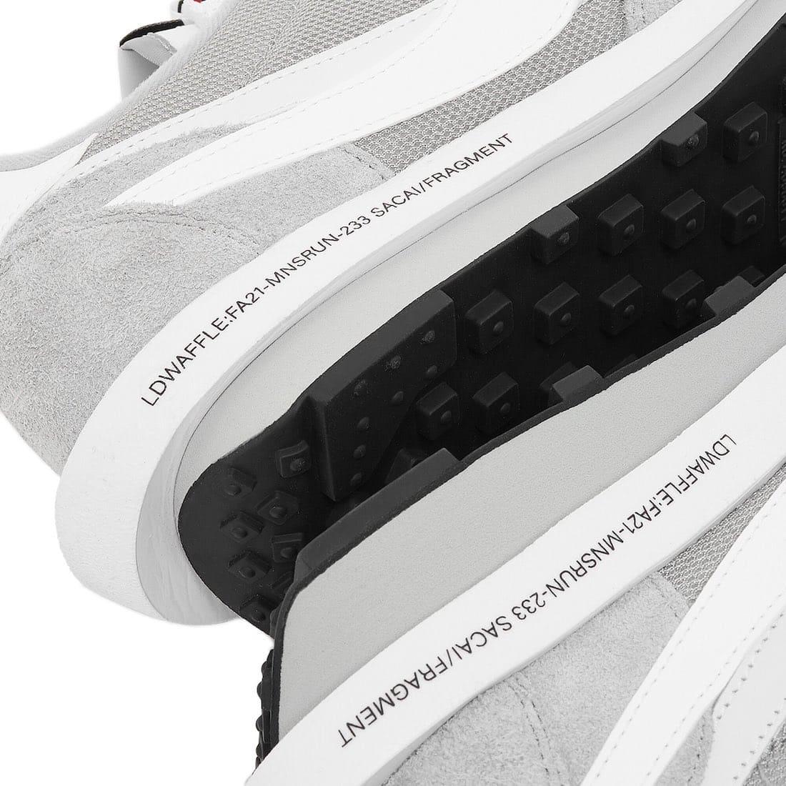 Sacai x fragment design x Nike LDWaffle Wolf Grey Midsole
