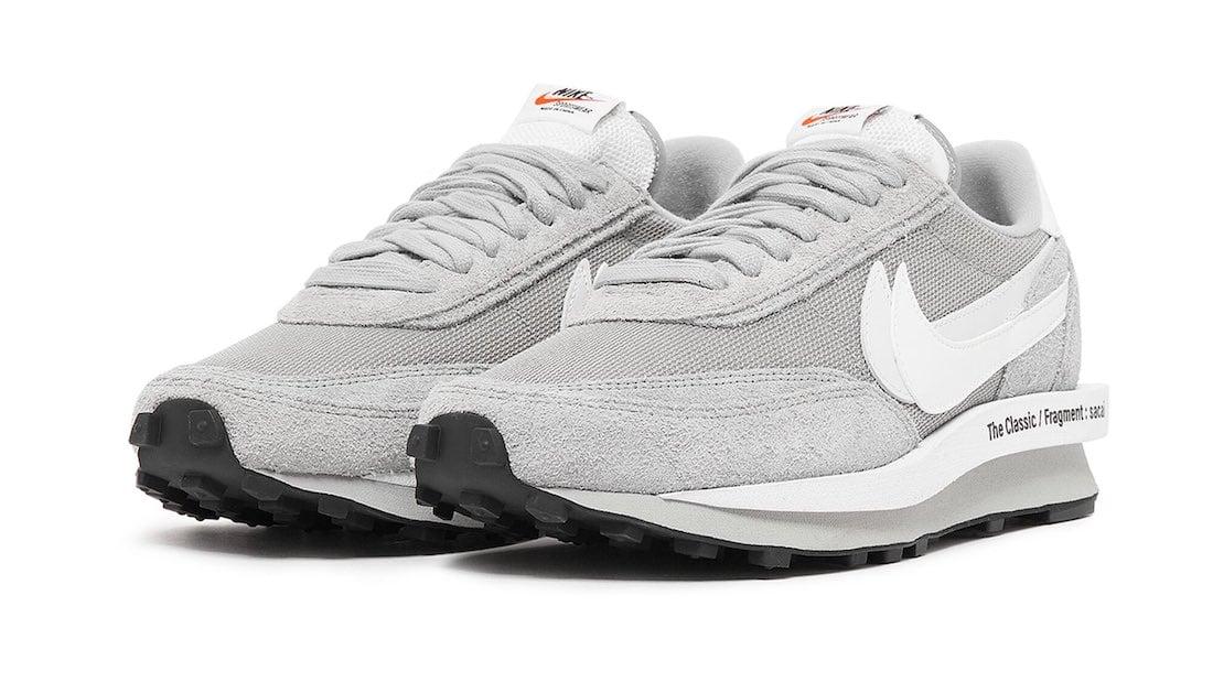 Sacai x fragment design x Nike LDWaffle Wolf Grey Full Look