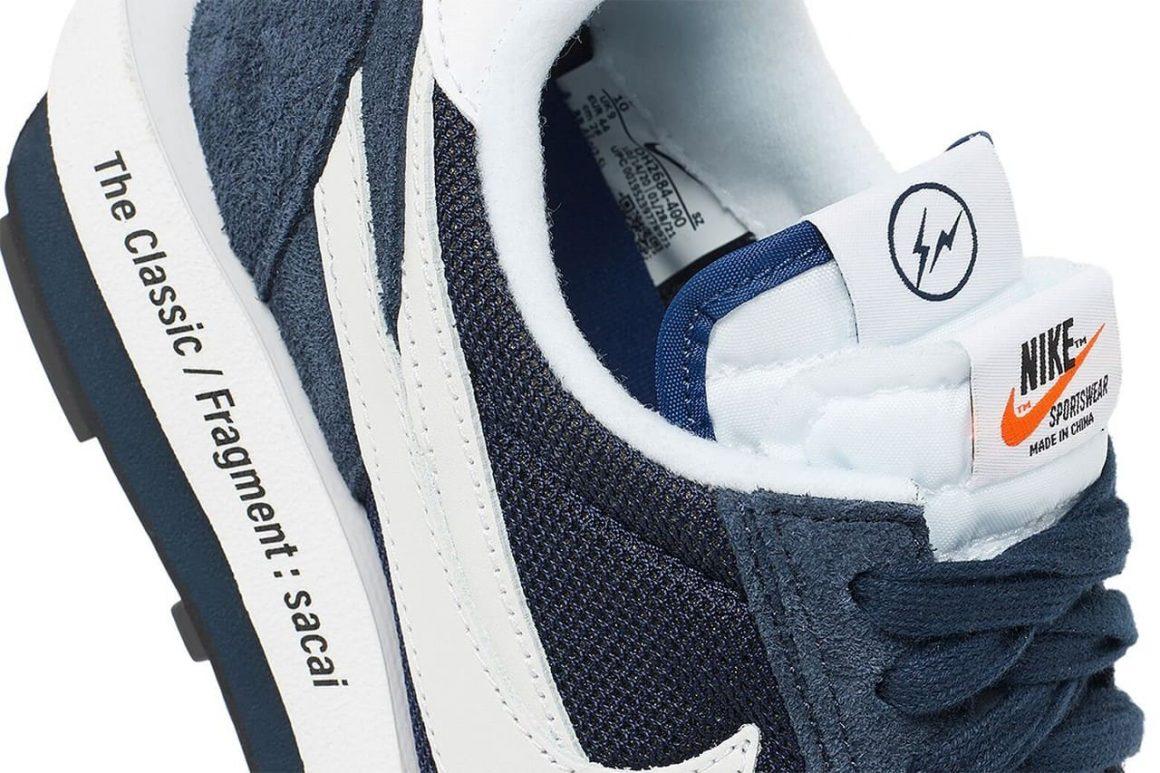 Sacai x fragment design x Nike LDWaffle Blue Void Details