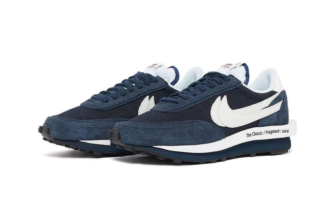 Sacai x fragment design x Nike LDWaffle Blue Void Full Look