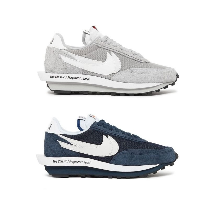 Sacai x fragment design x Nike LDWaffle Wolf Grey Blue Void Titel
