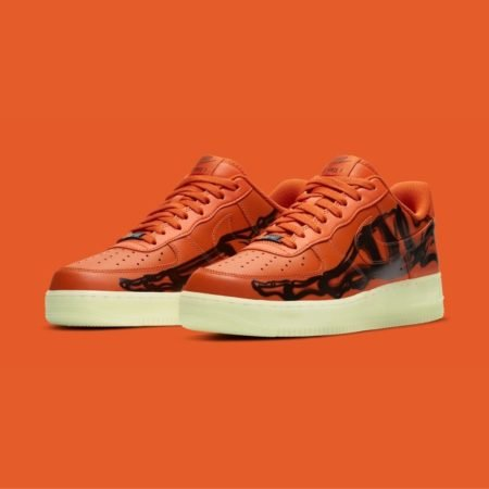 Nike Air Force 1 07 Skeleton Orange