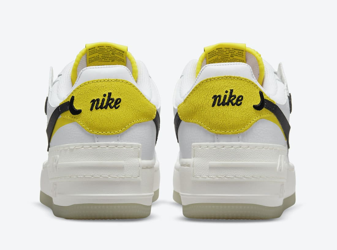 Nike Air Force 1 Shadow Go the Extra Smile DO5872-100 Heel