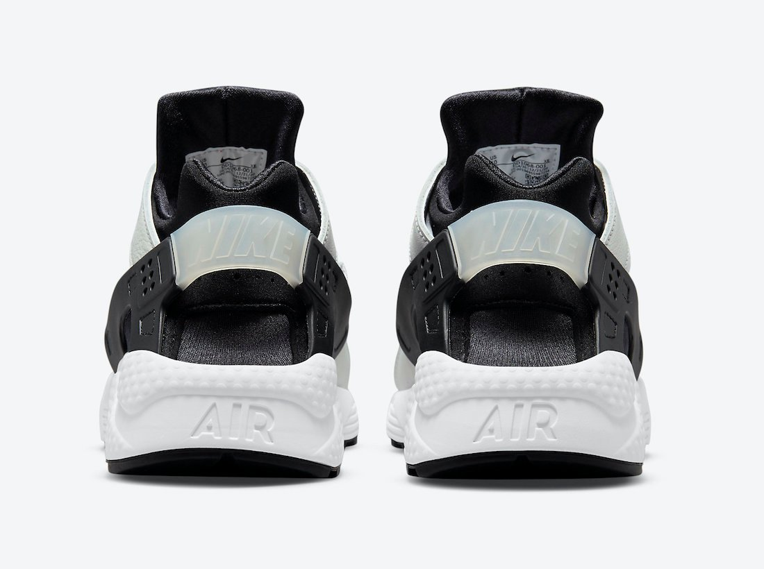 Nike Air Huarache Black and White Backside