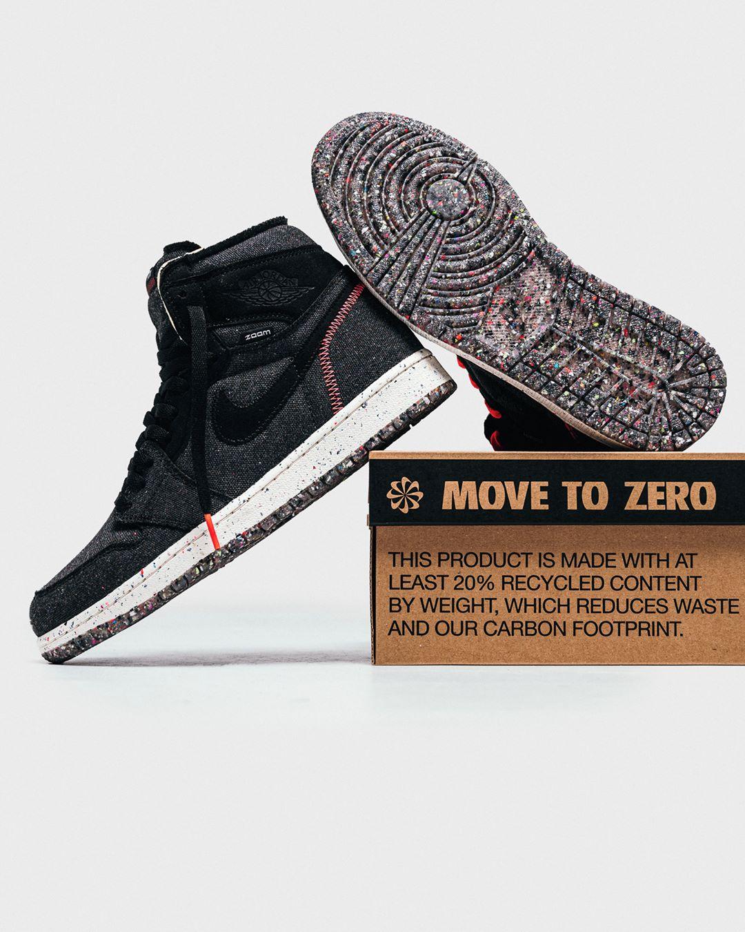 Nike Air Jordan 1 High Zoom Air 'Crater' CW2414-001 Release