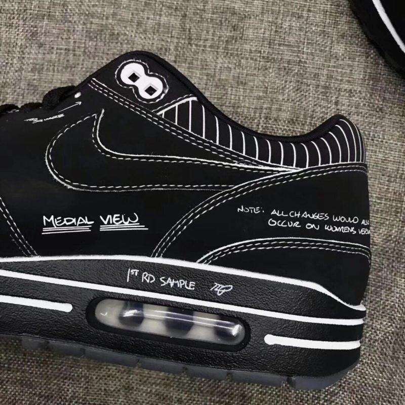 Nike Air Max 1 Schematic not for Resale Black