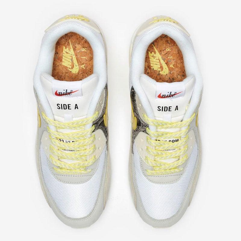 de3b05dde0 nike_air_max_90_prm_a_side_CI6394-100-01. Nike-Air-Max-90-Premium-Mixtape- Side-B-. Die Einlegesohle ...