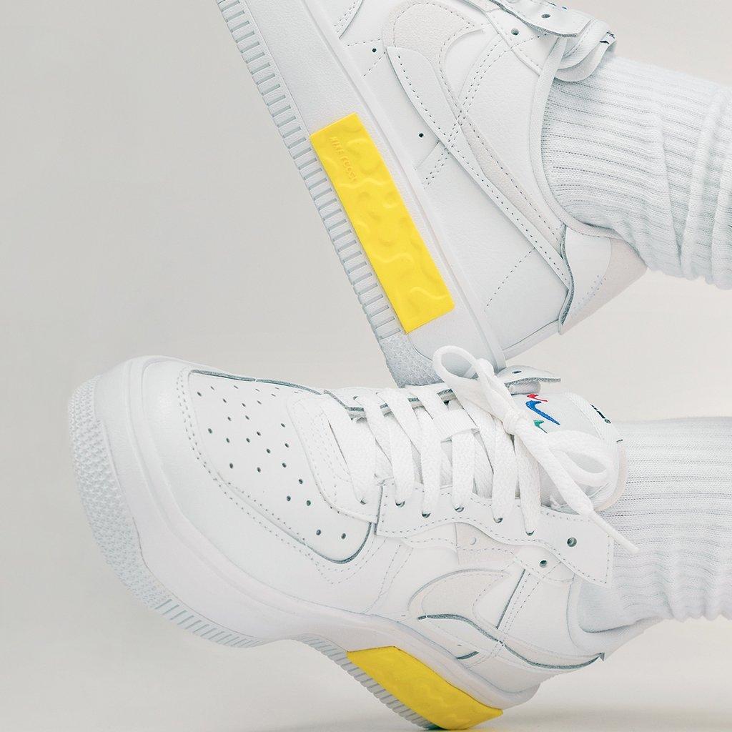 Nike Wmns Air Force 1 Fontanka Summit White On Feet Detail DA7024-101