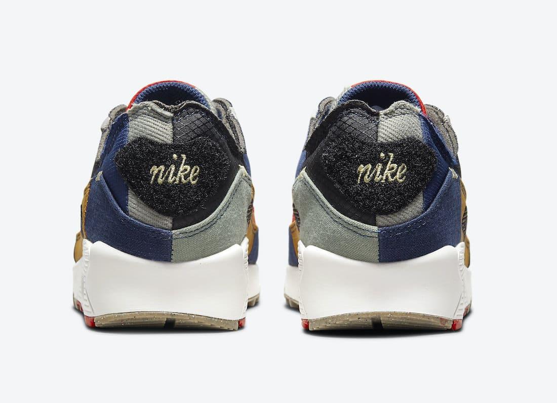 Nike Wmns Air Max 90 Scrap QS DJ4878-400 Back Patches