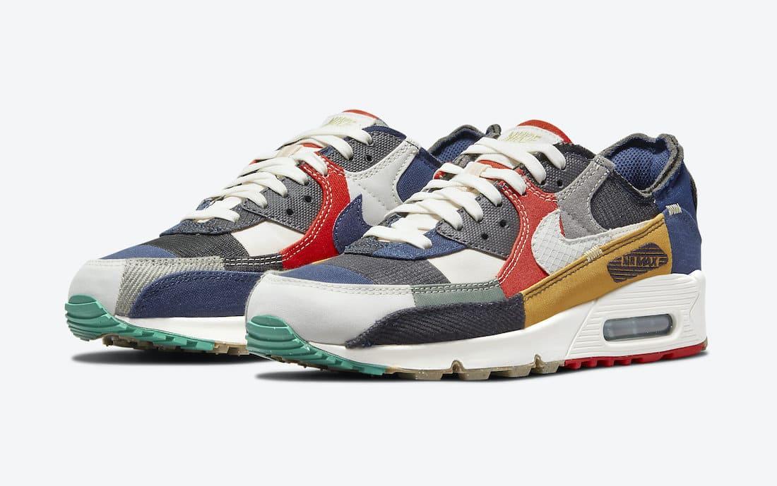 Nike Wmns Air Max 90 Scrap QS DJ4878-400 Frontside