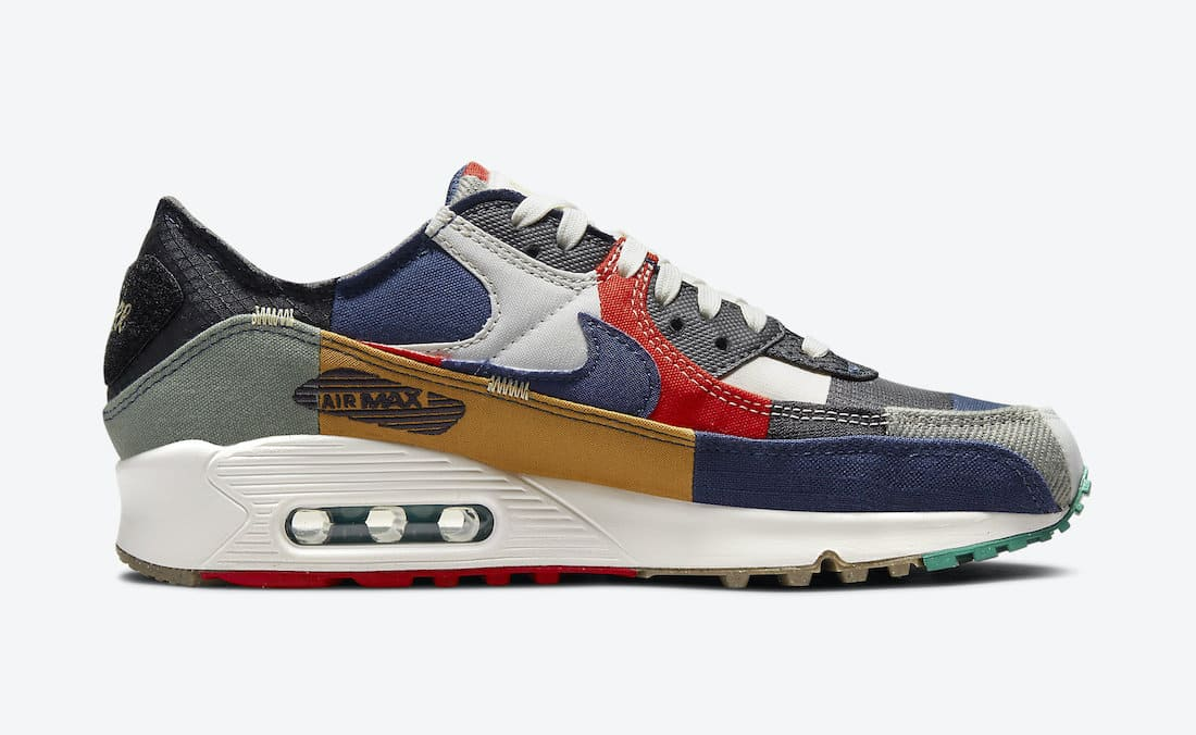 Nike Wmns Air Max 90 Scrap QS DJ4878-400 Leftside