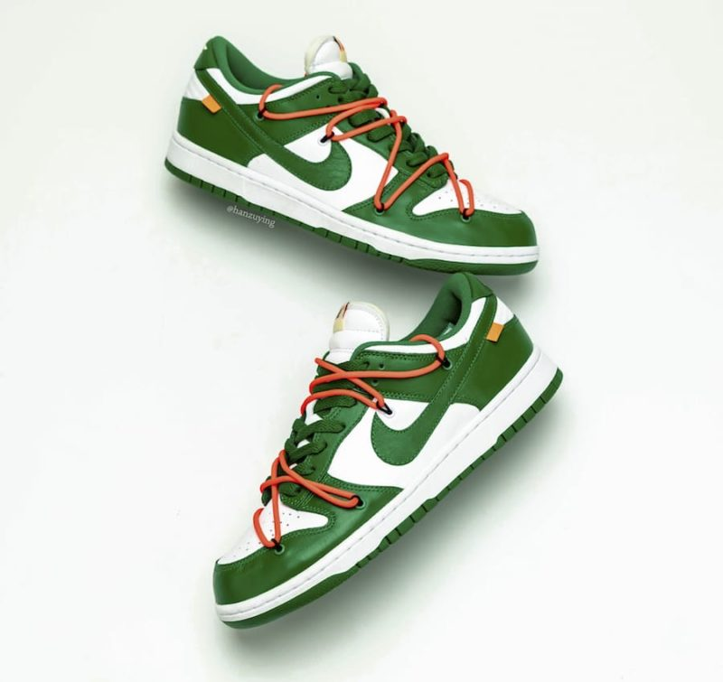 Off-White x Nike-Dunk Low Pine Green CT0856-100