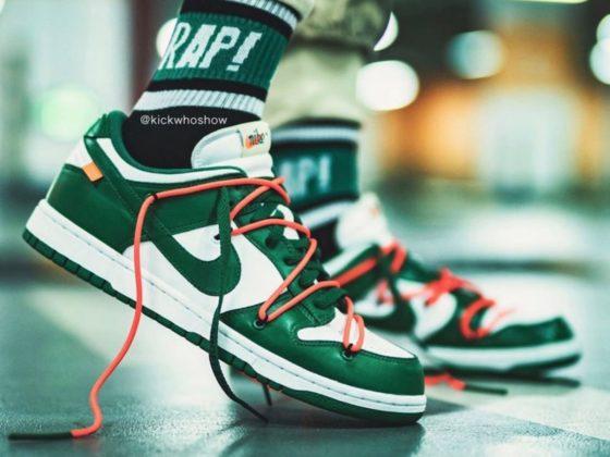 Off-White x Nike-Dunk Low Pine Green CT0856-100 Titelbild
