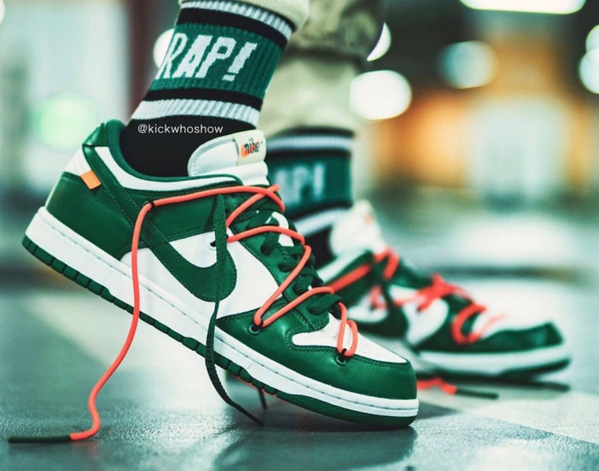 Off-White x Nike-Dunk Low Pine Green CT0856-100 Titelbild