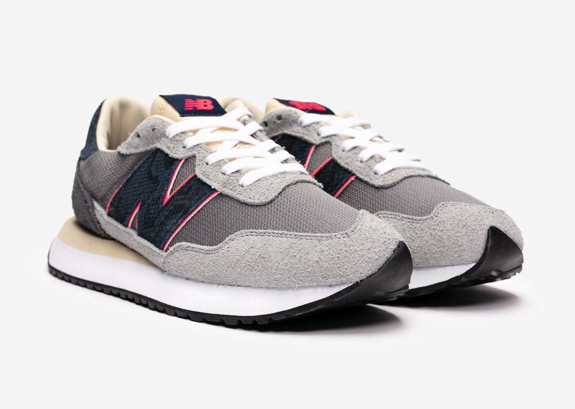 SNS x New Balance 237 Blue Racer Sideview