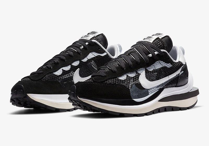 Sacai X Nike VaporWaffle 'Black' CV1363-001 Release