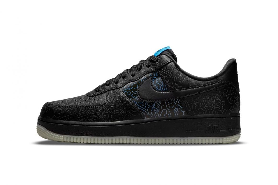 Space Jam x Nike Air Force 1 Low Computer Chip Lateral