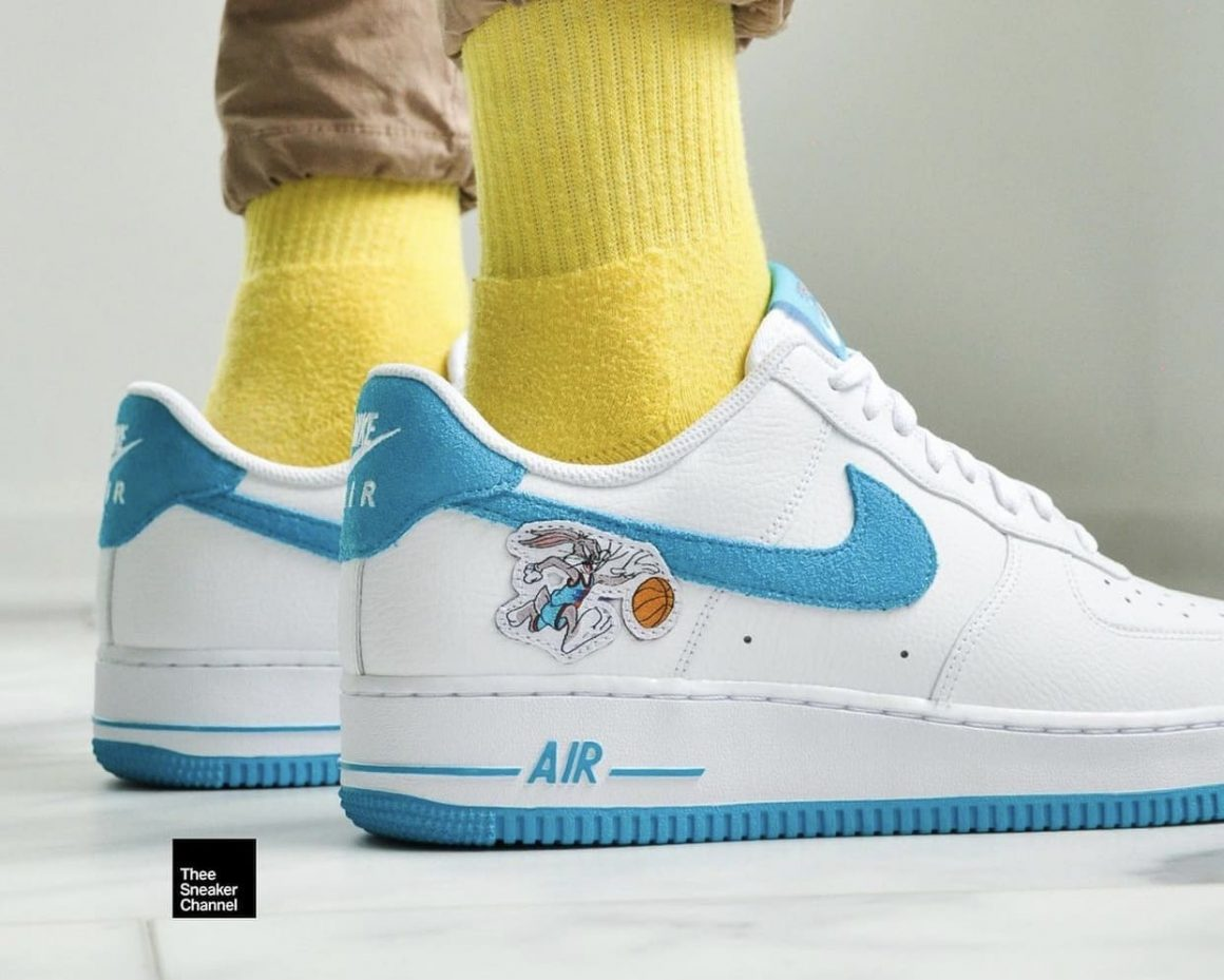 Space Jam x Nike Air Force 1 Low Hare On Feet Right side