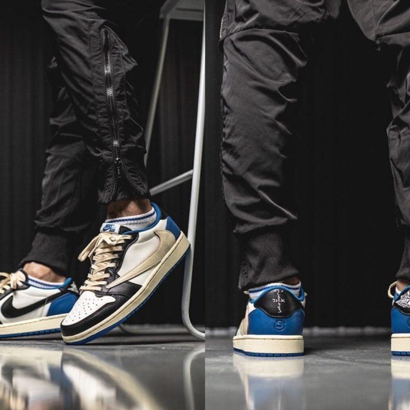 Travis Scott x fragment x Air Jordan 1 Low DM7866-140