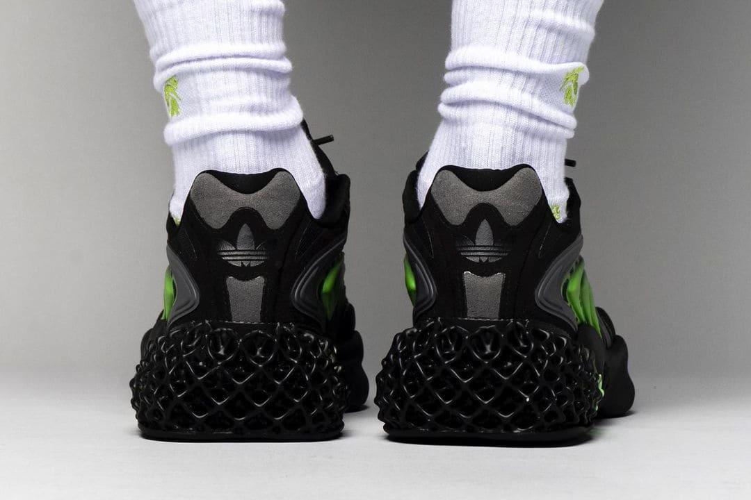 adidas 4D Cush Carbon Solar Green Heel