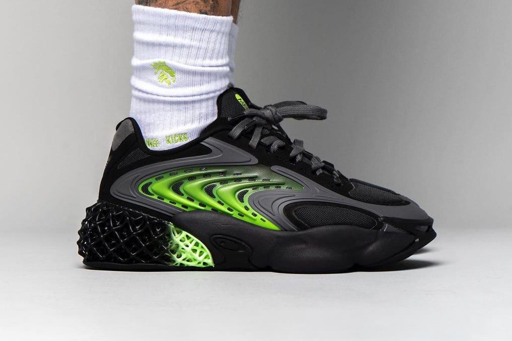 adidas 4D Cush Carbon Solar Green On Feet