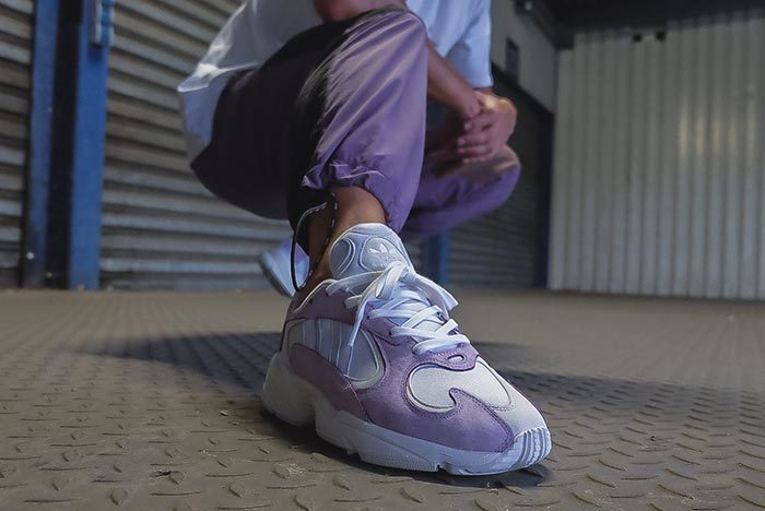 adidas Yung 1 Lavendel on Feet