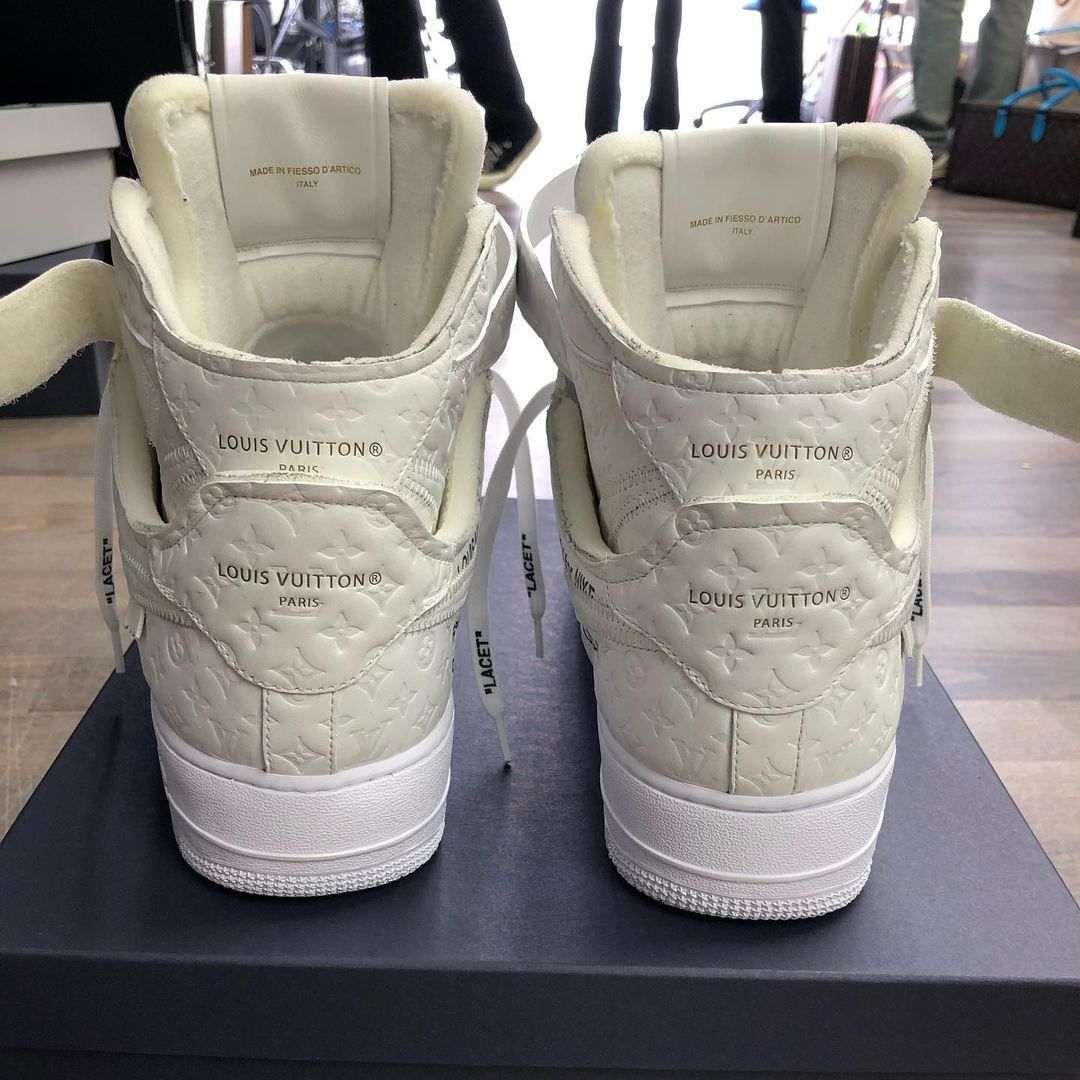 louis vuitton nike air force 1 ss22 white heel