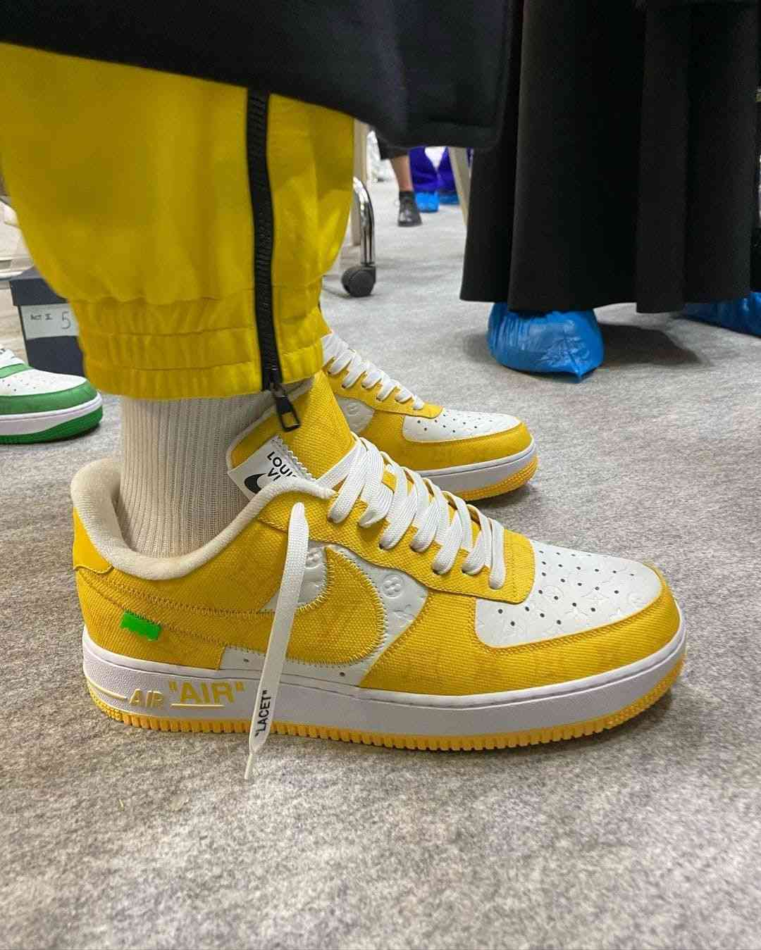 louis vuitton nike air force 1 ss22 yellow sideview