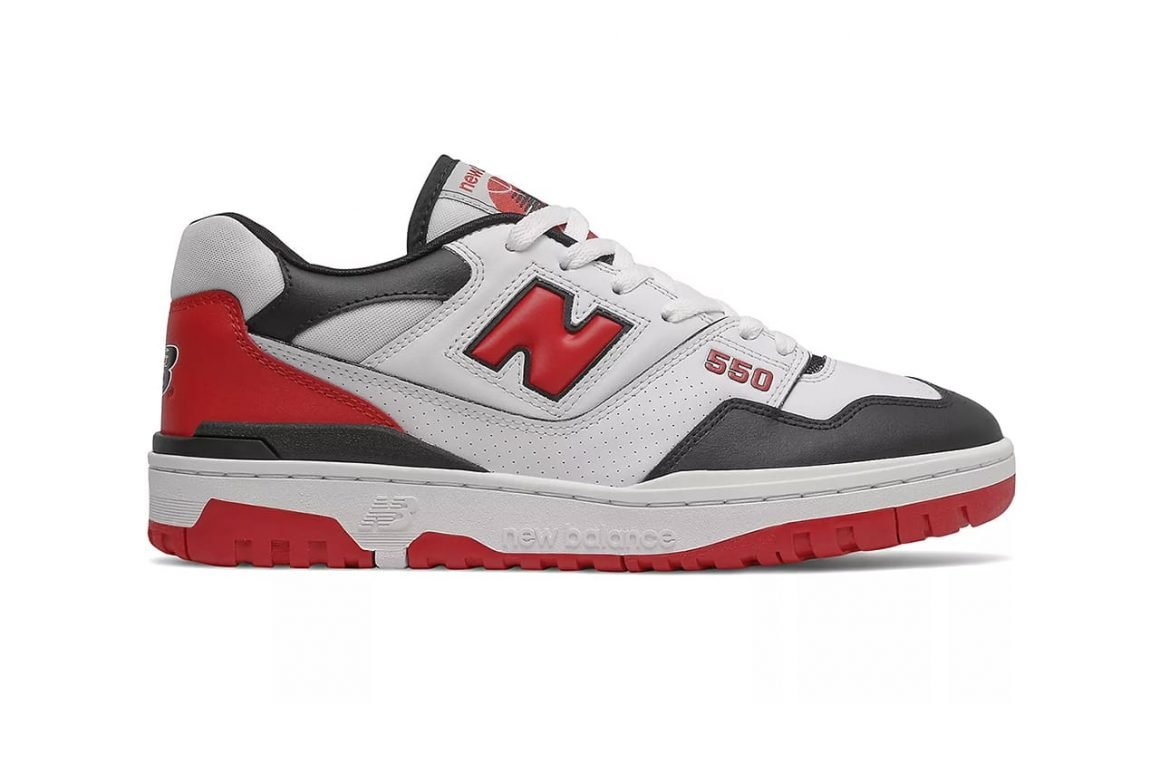 New Balance 550 Team Red BB550HR1 Lateral