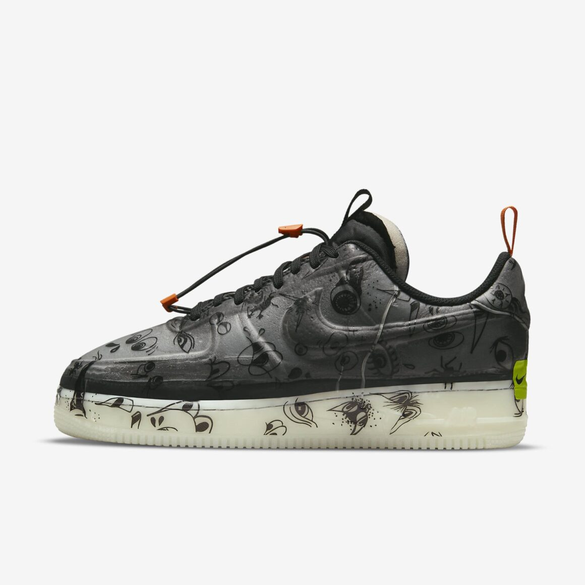Nike Air Force 1 Experimental Halloween DC8904-001 Lateral