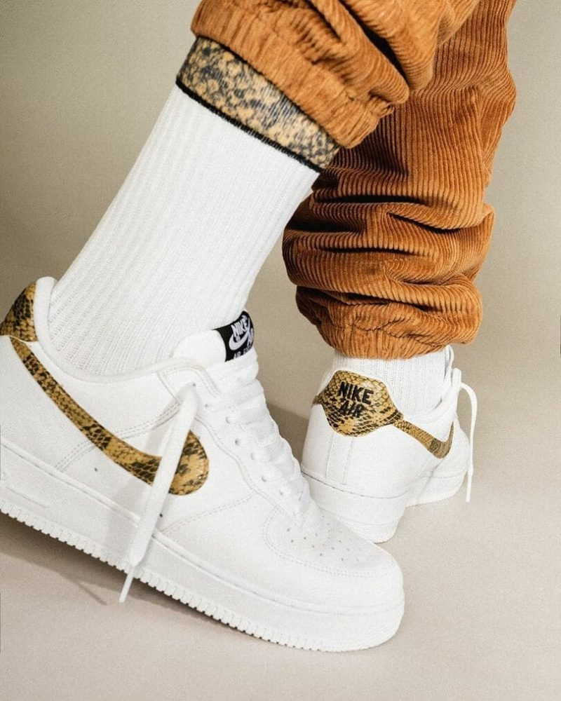 cheap jordans: Cheap Air Force 1 Low Ivory Snake for sale