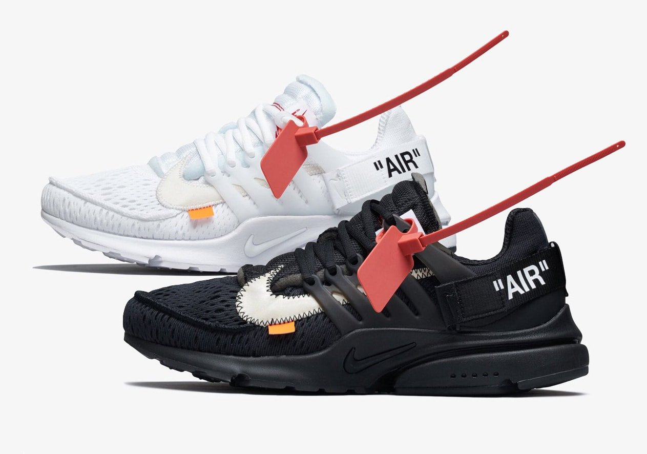 Off White x Nike Air Presto Black & White Releasedate